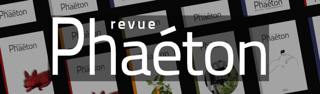 Revue Phaeton : écrire, transmettre